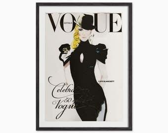 Fashion Illustration Vogue Australia Cover Art Print - Vogue Wall Art - Fashion Art Print