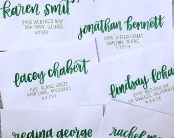 "Envelope Addressing / Watercolor / Script / Modern Calligraphy / Hand Lettering / Custom Address /  ""Smith"""