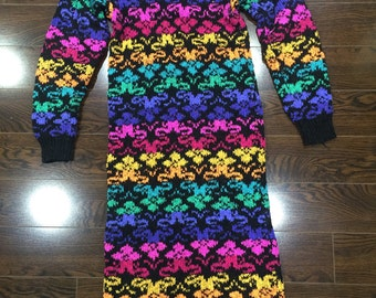 Colourful Sweater Dress