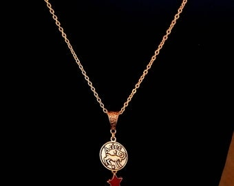 Zodiac Necklace Fire Signs