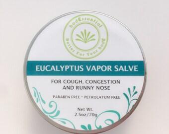 Eucalyptus Vapor Salve, Chest Rub, Vicks, congestion, Stuffy nose