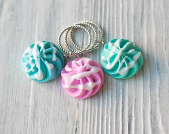 Stitch markers for knitting Set of 3pcs Stitch marker set Sweet Knitting markers Stitch knit markers Knitting accessories Knitters Gift