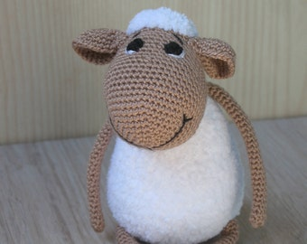 Crochet sheep/ Plush sheep/ Handmade sheep/ Shaun the Sheep/ White sheep/ White lamb/ Crochet animal/ Toy sheep/ Stuffed sheep/ Cute sheep
