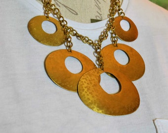 Vintage Gold Toned Statement Necklace