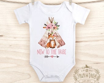 Love My Tribe Baby Clothes Teepee Baby Shirt Hipster Baby
