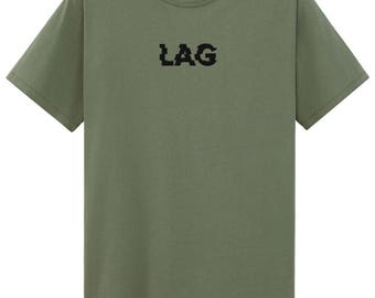 Lag Embroidered T-Shirt Gaming T-shirt