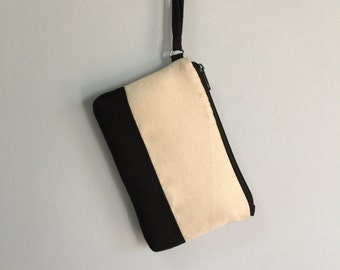 Black and Creme Upholstery Pouch
