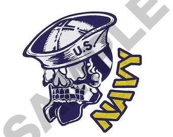 Navy Skull - Machine Embroidery Design