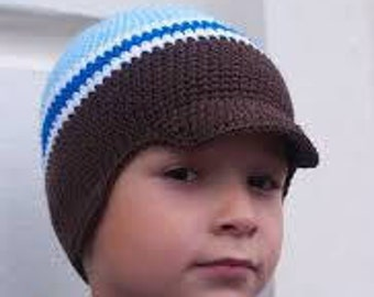 Spring hat for boys stripe knitted hat/cap for boys hat with visor for boys spring hat/cap with visor boys easter spring beanie for boys