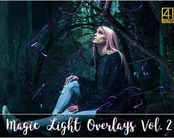 4K Magic Light Overlays Vol. 2