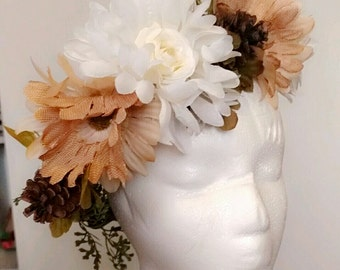 Electric Forest Mother Nature Head Wreath Festival Wear