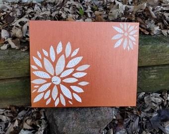 Paper Flower Petals   Painted Flower Cutout   Copper   Word Flower   Scrapbook Flowers