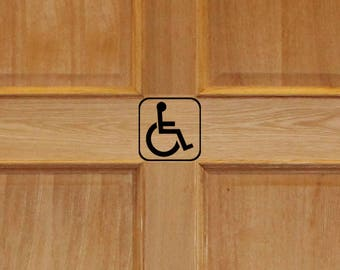 Handicap Bathroom Sign, Bathroom Decor, Bathroom Decal