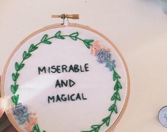 Custom Embroidery (Taylor Swift Lyrics Pictured)