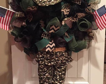 Army man wreath