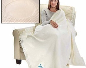 "Monogrammed Cotton Basket Weave Blanket/Afghan 50""x60"""