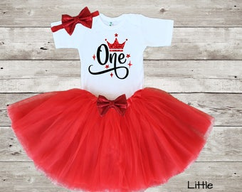 1st Birthday Outfit, Personalized Birthday Outfit, First Birthday Outfit, Red Tutu Outfit, 1st Birthday, Age One Outfit, red birthday outfit