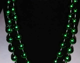 Green St. Patrick's Day Beaded Costume Necklace