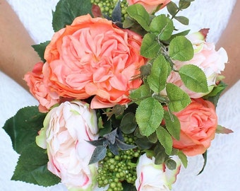 Bridal Bouquet, Wedding Bouquet, Wedding Flowers, Silk Flowers, Flowers, Bride, Bridesmaid