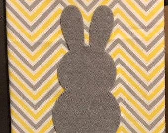 Bunny on Canvas - Fabric/Felt