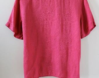 Vintage Silk T-Shirt Blouse
