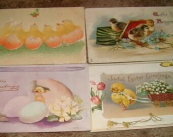 6 Vintage Easter Postcards (Chicks)