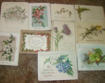10 Pieces of Vintage Victorian Scrap (Flowers)