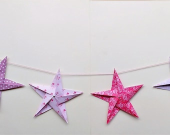 Large Origami Star Bunting