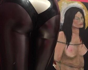 Latex panties with heart