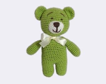 Cuddly Toy Plush Teddy Bear Stuffed Animal Small Teddy Bear Doll Knitted Teddy Bear Crochet Cute Stuffed Animals Teddy Bear Plushie Toy