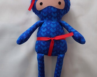 Blue Ninja Rag Dolls