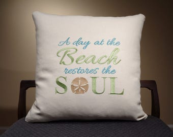 nautical decor day at the beach pillows nautical pillows with words beach decor