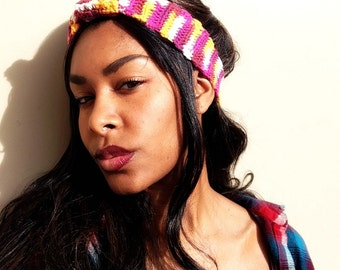 Multi-colored Cinched Headband