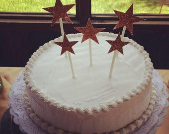 Toppers star shining in two sizes-StarToppers-Toppers for cupcakes-Toppers for cake-Cake toppers