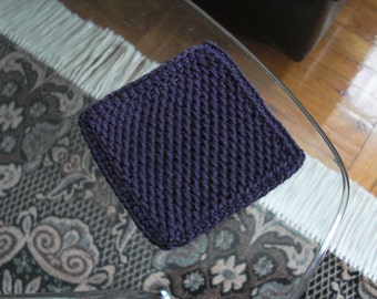 Crochet coasters Square coasters Purple coasters Drink coasters