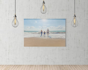 """Personalised Canvas, YOUR PHOTO on a canvas, Personalised wall art, Custom canvas print - 20"""" x 16"""" (50cm x 40cm)"""