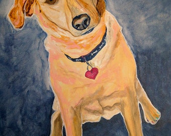 Yellow Lab, Pet Portrait, Dog Art, Pet Portrait Artist, Colorful Pet Portrait, Lab Art, Art by Jodi Dodd