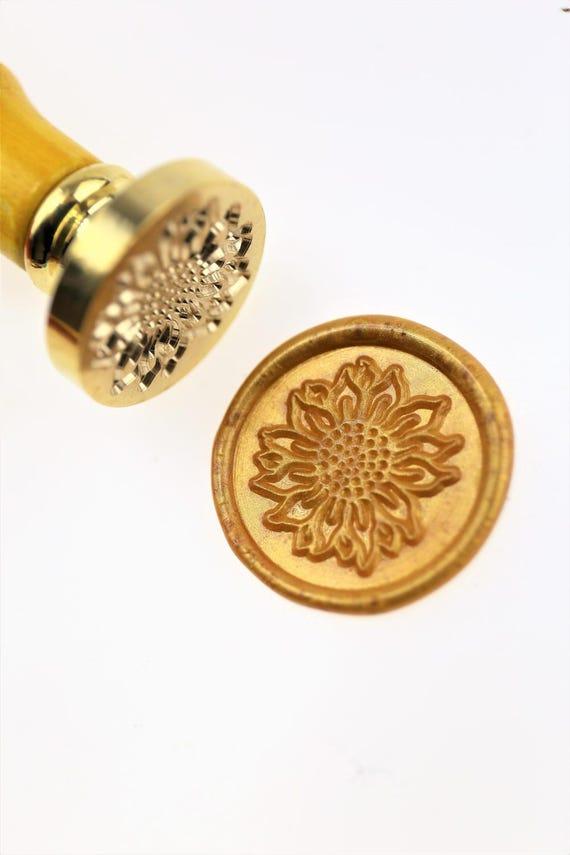 Sunflower wax seal stamp wax sealing kit Custom wedding – Sunflower Wedding Invitations Kits