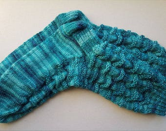 Blue wool socks, blue socks, warm socks, knit socks, winter socks, speckled socks, blue knit socks, blue winter socks, nordic socks
