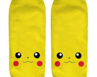Pokemon Pikachu Yellow Socks / One Size / FREE Shipping