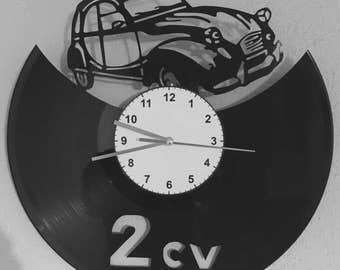 Pendulum vinyl 2cv Citroën car dodoche dëuch clock 2 horses
