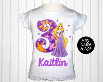 Tangled Birthday Shirt Rapunzel Party Etsy