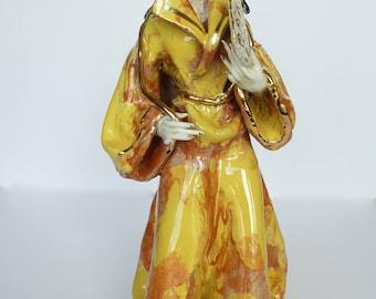 Vintage Asian Woman Statue