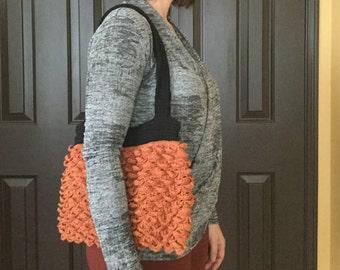 Purse Handmade Crochet with lining and zipper