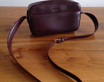 French vintage Le Tanneur Burgundy bag