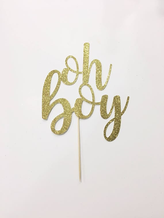 Oh Boy Cake Topper Template