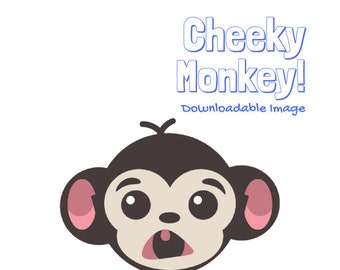 Cute Cheeky Monkey Clip Art // INSTANT DOWNLOAD //