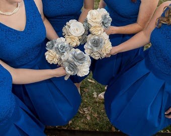 Bridesmaid Paper Flower Bouquets
