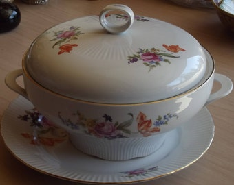 Soup Tureen with Plate
