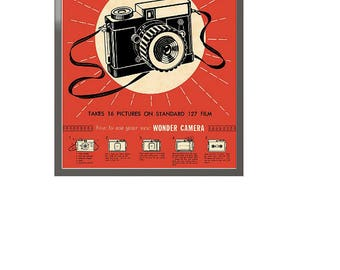 Vintage Camera Framed Art